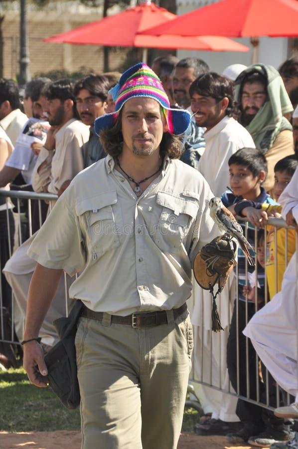 Fauconniers péruviens photo libre de droits