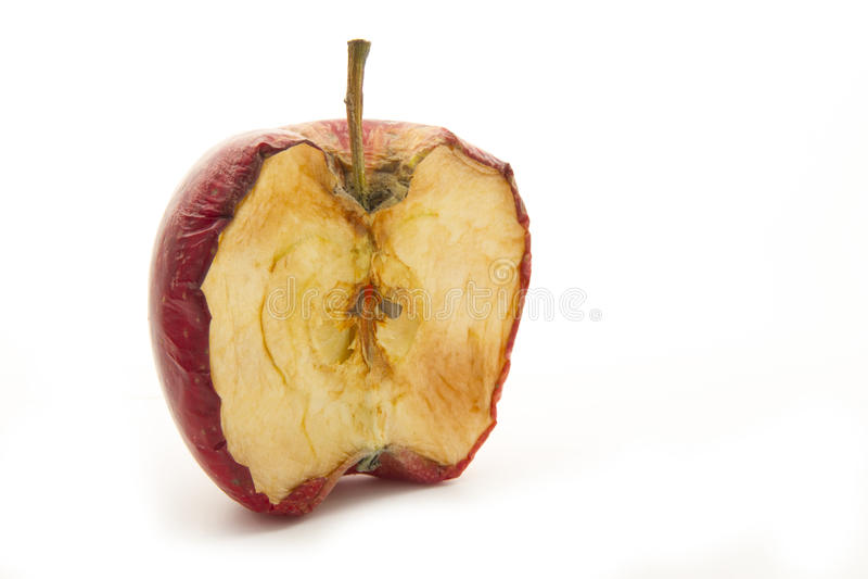 Fauler halber Apfel lizenzfreies stockbild