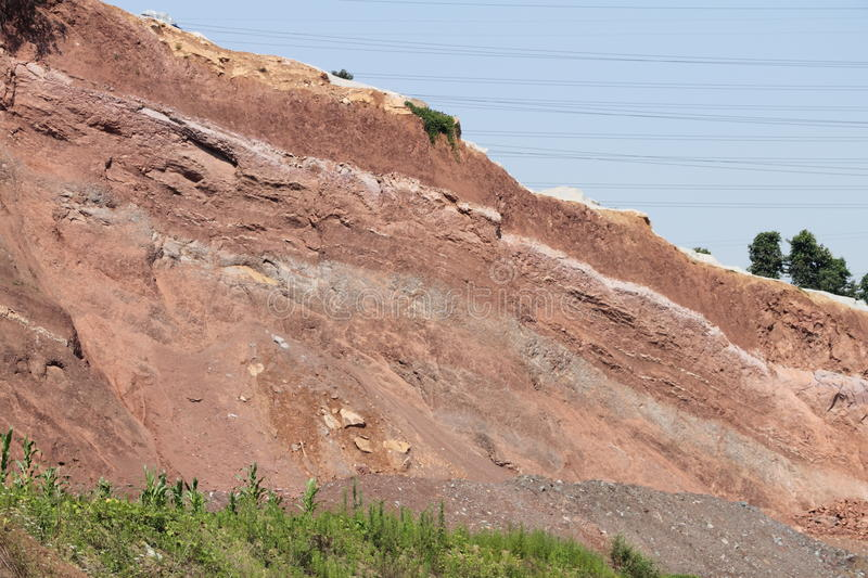 Fault. Its a fault of a hill stock images