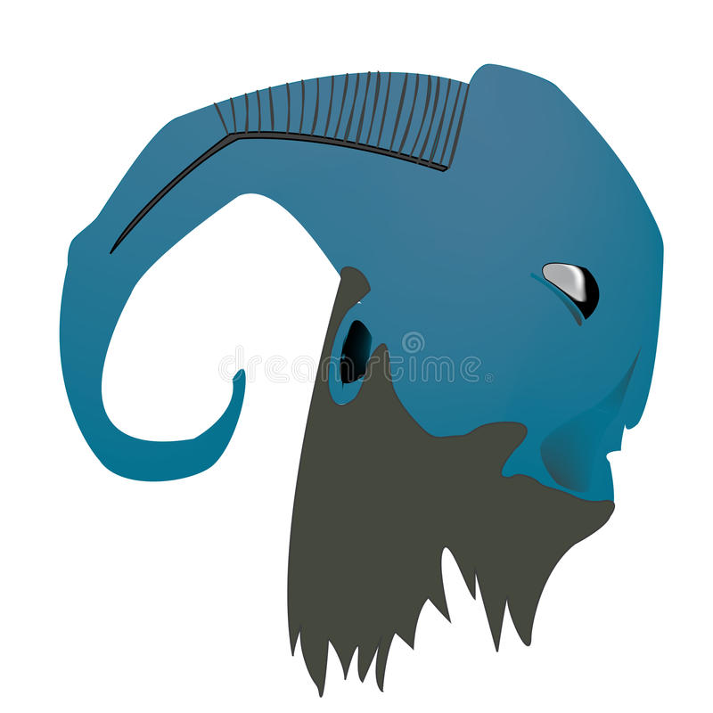 Download The faun stock vector. Illustration of head, backdrop - 12304894