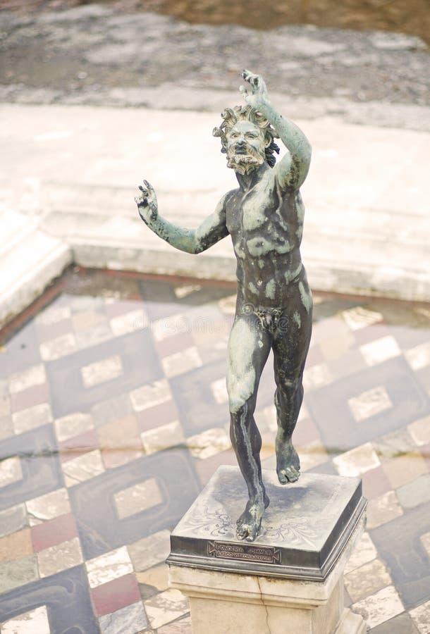 Faun statua w Pompei zdjęcie royalty free