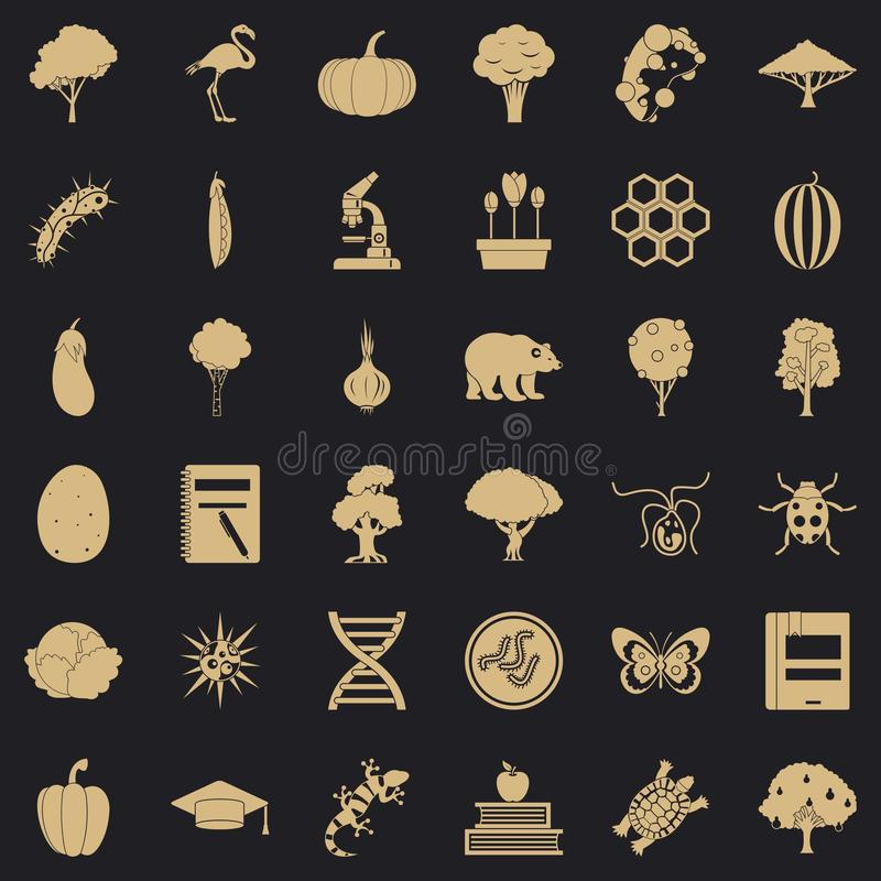 Fauna environment icons set, simple style. Fauna environment icons set. Simple set of 36 fauna environment vector icons for web for any design vector illustration