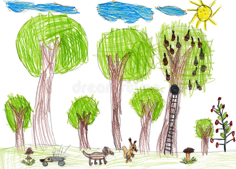 Faune, dessin enfantin illustration stock