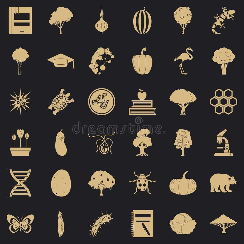 Faunistic icons set, simple style. Faunistic icons set. Simple set of 36 faunistic vector icons for web for any design vector illustration