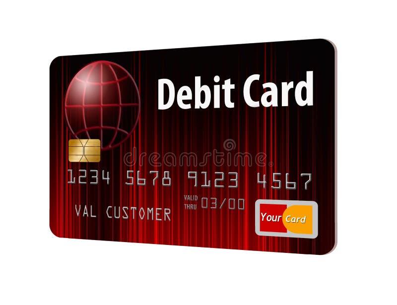Fausse carte bancaire générique i illustration de vecteur