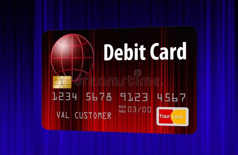 Fausse carte bancaire générique i illustration libre de droits