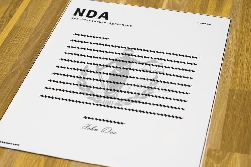 Fausse forme de NDA - à angles photos stock
