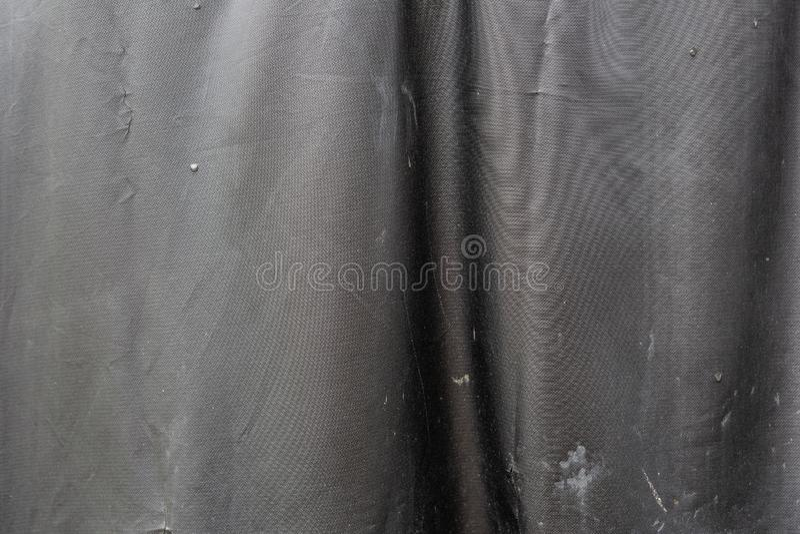 Fausse texture en cuir sale noire image stock