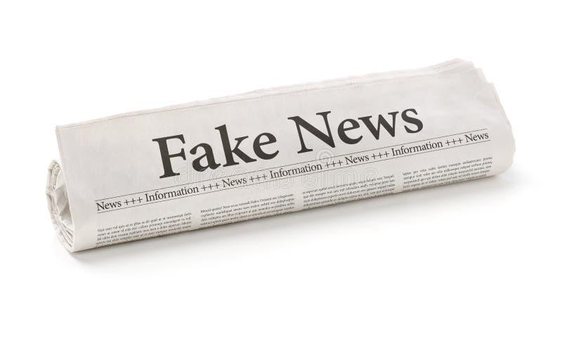 Fausses actualités image libre de droits