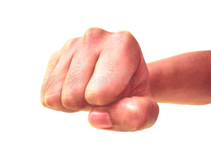Faust, aggressiv, Durchschlag, Absicht zu schlagen lizenzfreies stockbild