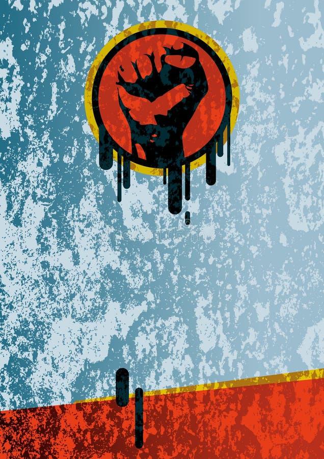 Faust grunge Hintergrund vektor abbildung
