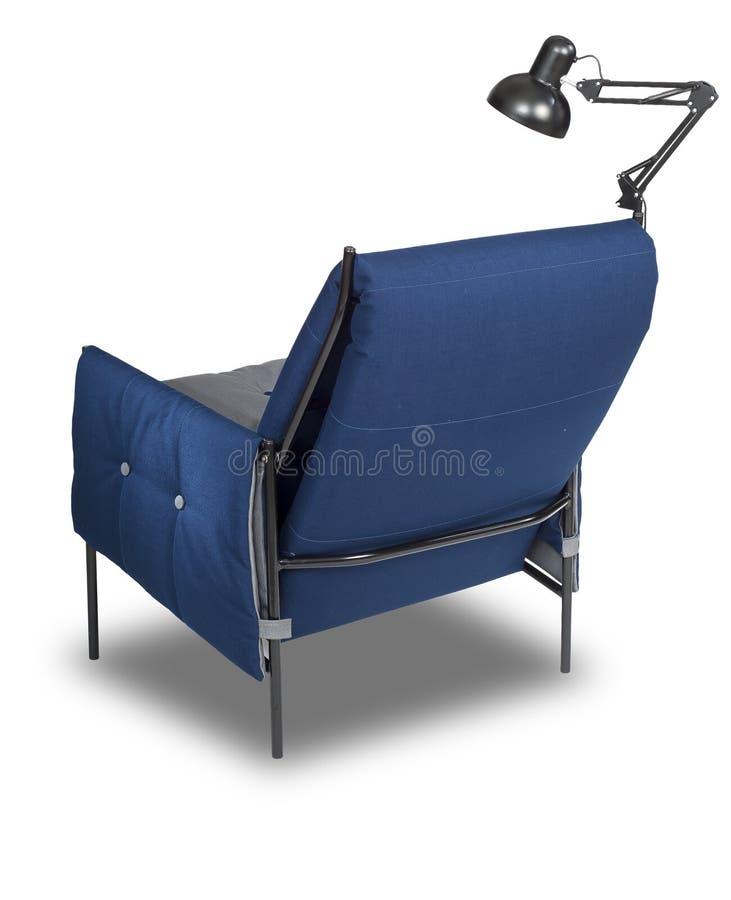 Fauteuil bleu image stock