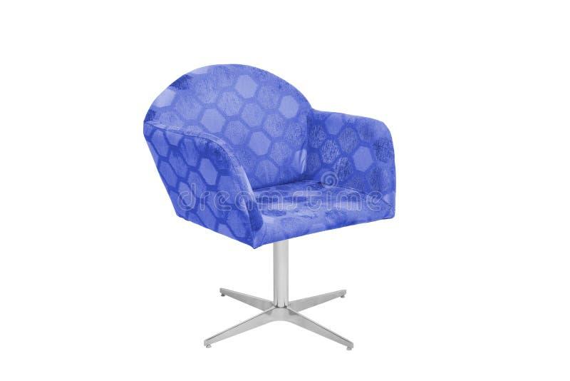 Fauteuil bleu et gris de couleur image libre de droits