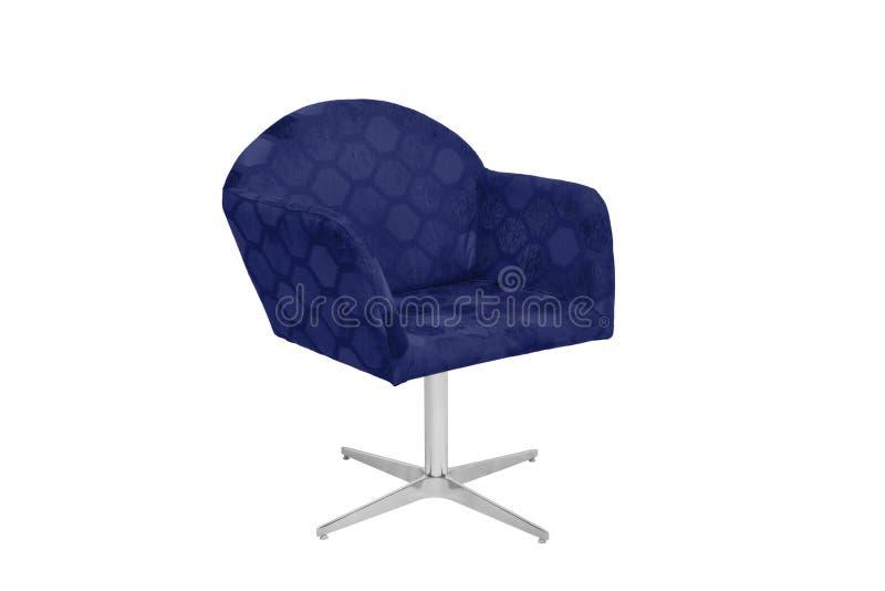 Fauteuil bleu et gris de couleur images stock