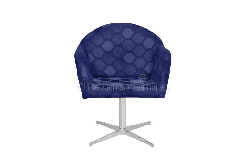 Fauteuil bleu et gris de couleur image stock