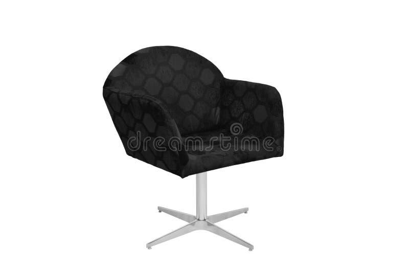 Fauteuil bleu et gris de couleur chaise moderne de concepteur sur le fond blanc photographie stock