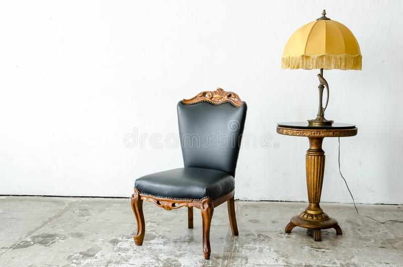 Fauteuil classique luxueux de vintage image stock