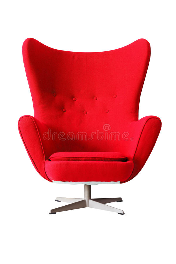 Fauteuil Classique Rouge Moderne D isolement Sur Le Fond Blanc