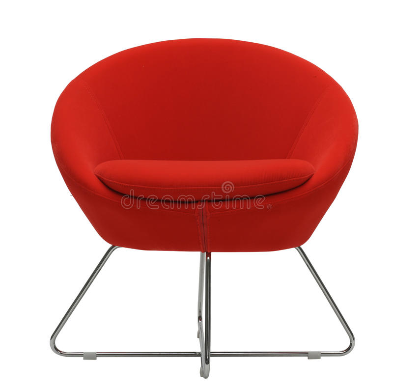 Fauteuil d'isolement rouge image stock