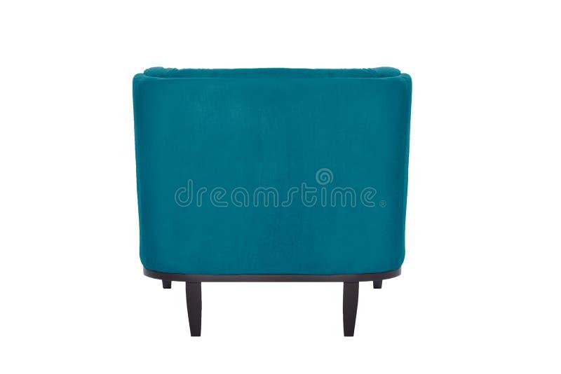 Fauteuil de bleu de Beaultiful chaise moderne de concepteur sur le fond blanc photo libre de droits