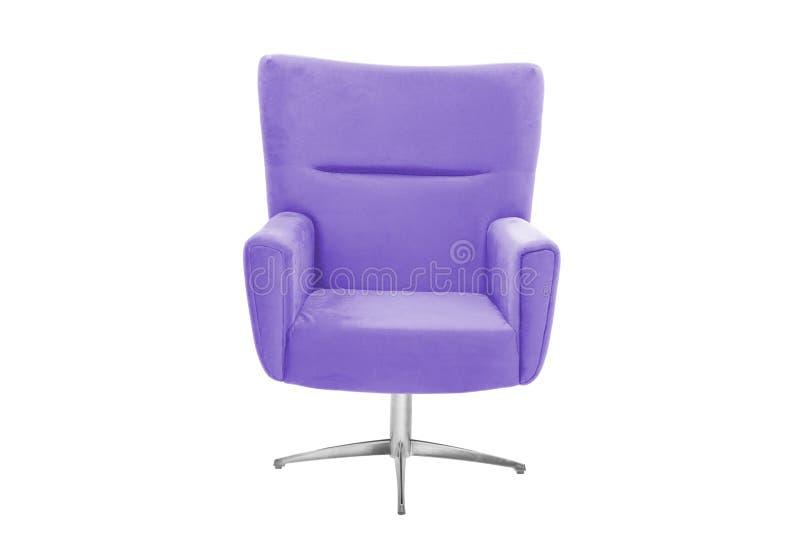 Fauteuil de couleur chaise moderne de concepteur sur le fond blanc photos stock