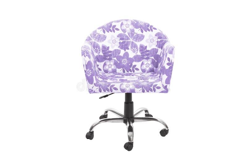 Fauteuil de couleur chaise moderne de concepteur sur le fond blanc images libres de droits