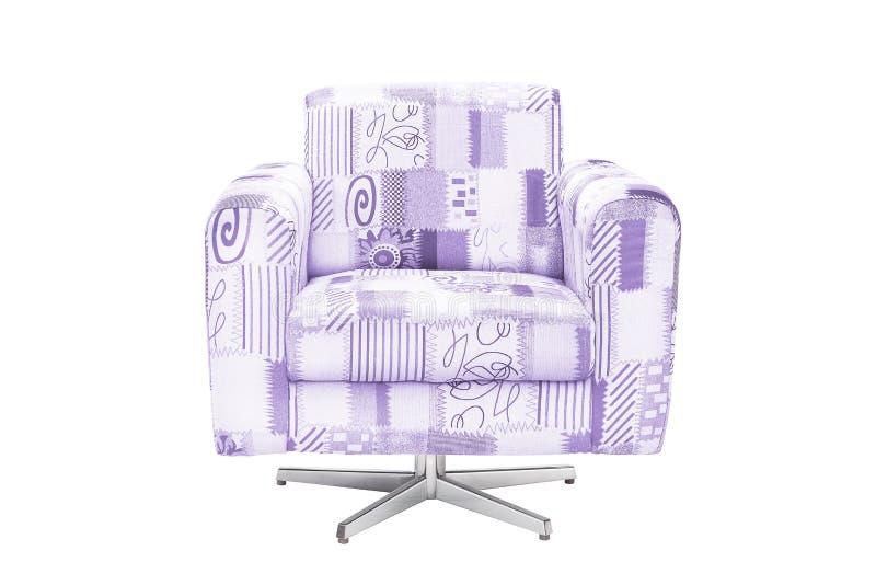 Fauteuil de couleur chaise moderne de concepteur sur le fond blanc photos libres de droits