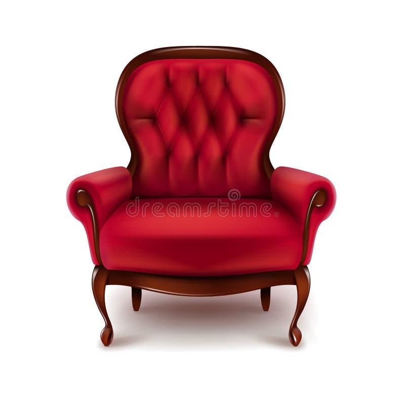 Fauteuil de rouge de vintage illustration de vecteur