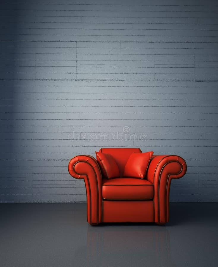 Fauteuil en cuir rouge illustration libre de droits