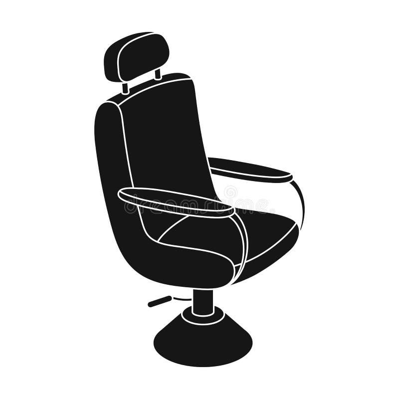 Fauteuil Icône simple de raseur-coiffeur en Web noir d'illustration d'actions de symbole de vecteur de style illustration de vecteur
