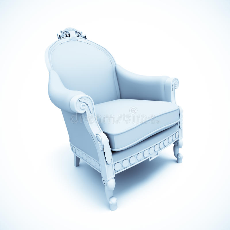 Fauteuil majestueux illustration stock