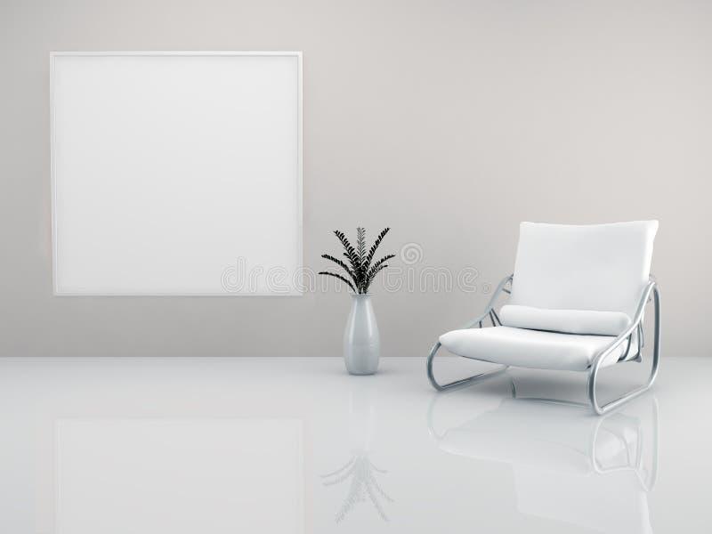 Fauteuil minimaliste illustration stock