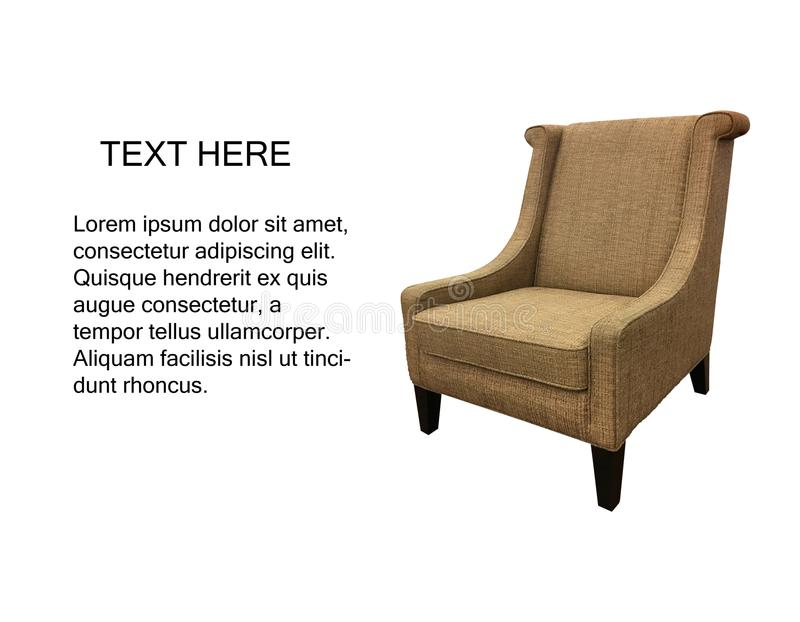 Fauteuil moderne il chaise confortable images stock