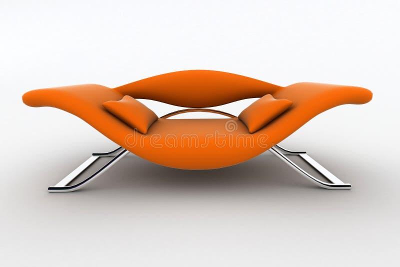 Fauteuil orange moderne illustration libre de droits