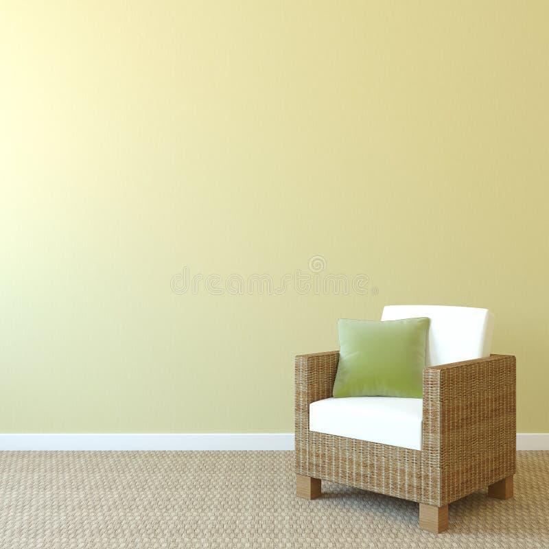 Fauteuil près de mur vide. illustration de vecteur