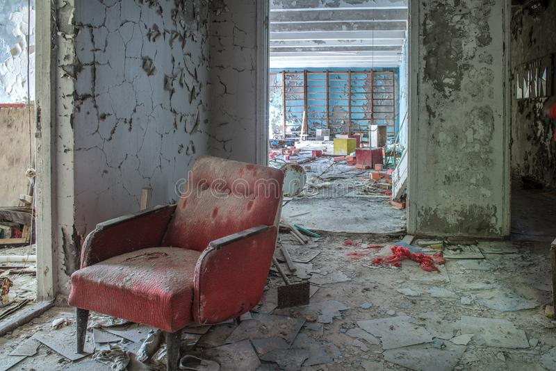 Fauteuil rouge photographie stock