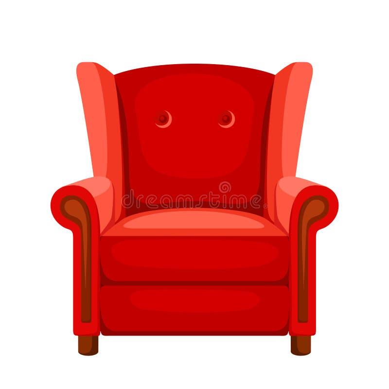 Fauteuil rouge Illustration de vecteur illustration stock