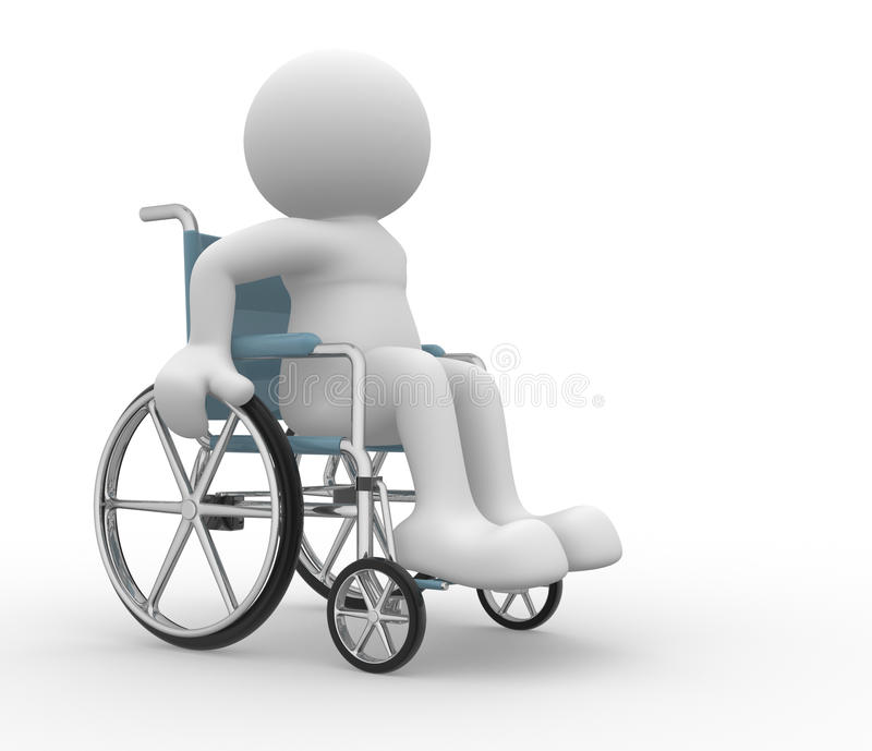 Fauteuil roulant illustration stock