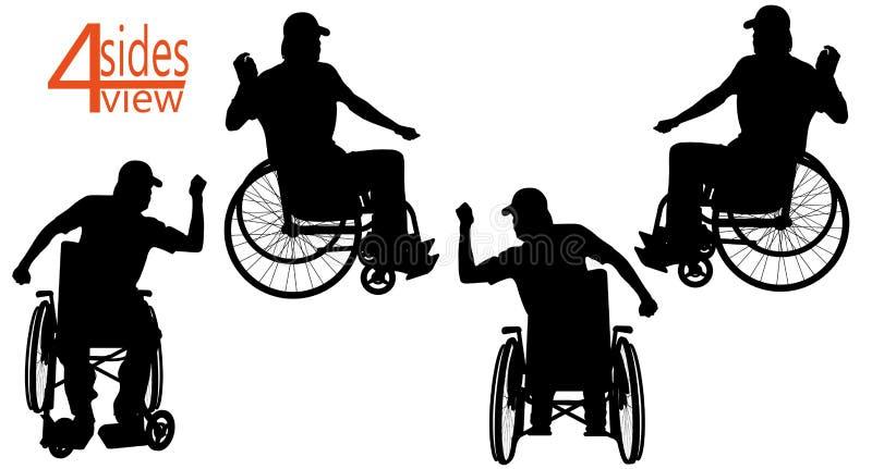 Fauteuil roulant illustration de vecteur