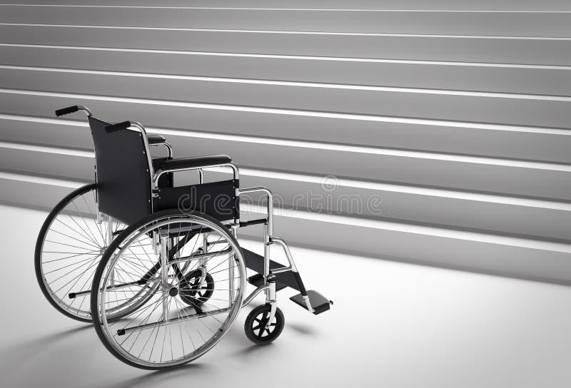 Fauteuil roulant et escaliers illustration stock
