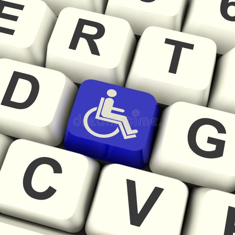 Fauteuil roulant principal handicapé Access d'expositions illustration de vecteur