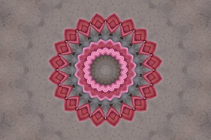 Fauteuils de Rose vus par le kaléidoscope illustration de vecteur