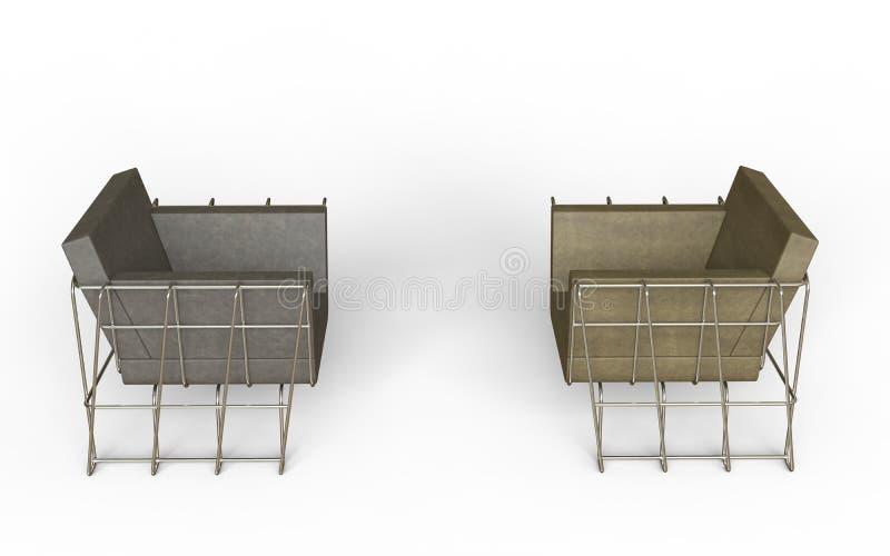 Download Fauteuils en cuir frais image stock. Image du isolement - 77158767