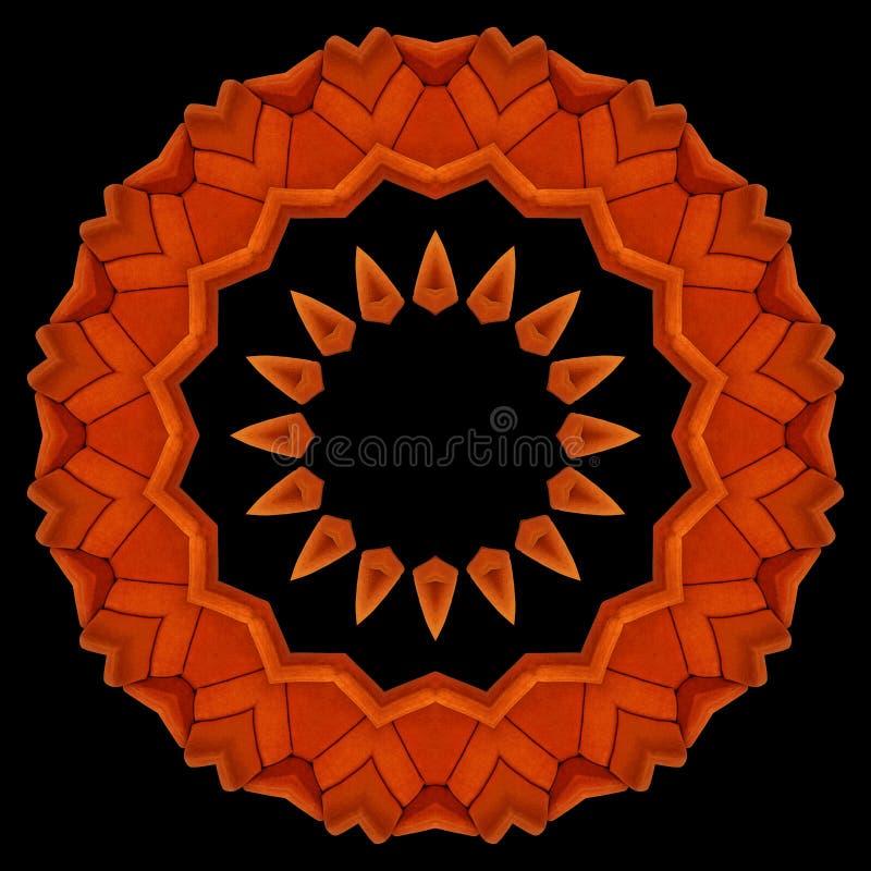 Fauteuils oranges vus par le kaléidoscope illustration stock