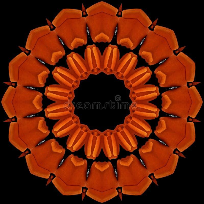 Fauteuils oranges vus par le kaléidoscope illustration libre de droits