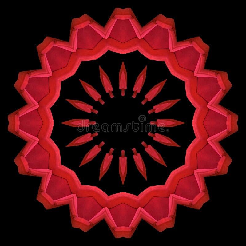 Fauteuils rouges vus par le kaléidoscope illustration libre de droits