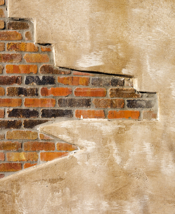 Faux Brick And Plaster Wall: Faux Brick Wall Stock Photo. Image Of Aged, Background