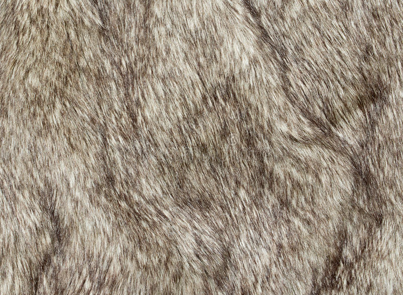 Faux fur. Fabric for the fashion industry used to artificially recreate animal pelts including reindeer and coyote. The use of a fake synthetic version not stock image