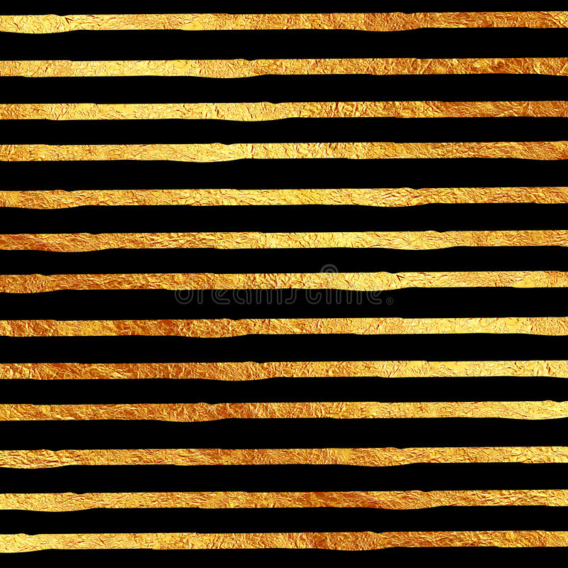 Faux Gold Foil Glitter Black. Faux Gold Foil Glitter on Black Texture Pattern royalty free stock image