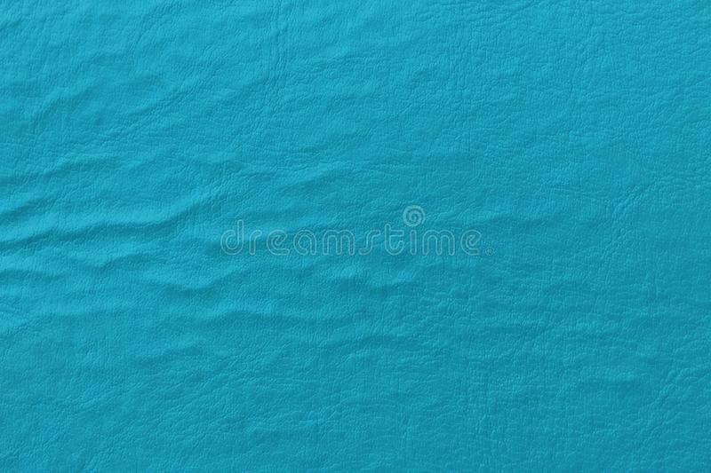 Faux leather, turquoise color stock photography